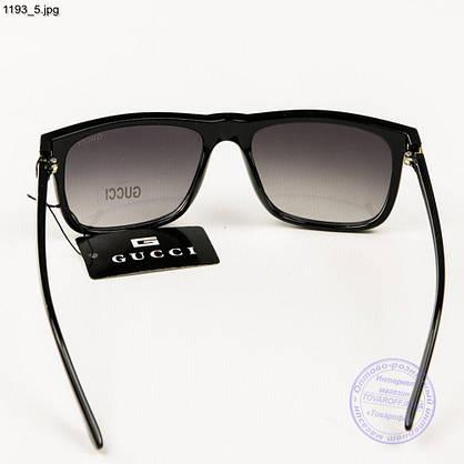 Брендовые солнцезащитные очки Gucci - Черные (реплика) - 1193, фото 3