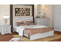 Кровать деревянная Элит Плюс с подъемным механизмом из массива дуба двуспальная