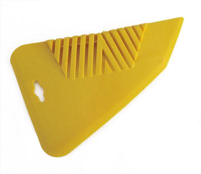 Шпатель притискний  для розгладження шпалер , 280мм  жовтий