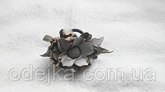 Шпилька гумка з натуральної шкіри ручної роботи