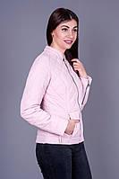 Молодёжная женская куртка на весну 42-50 размеры Милена в пудре