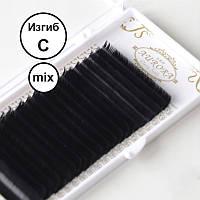 Ресницы Aurora Mix изгиб C Черные