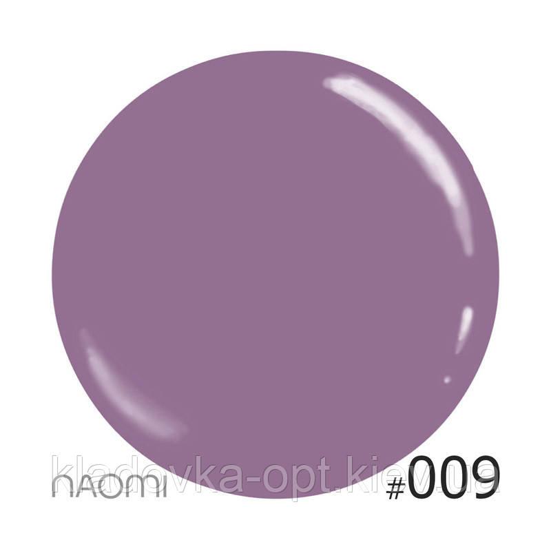Декоративный лак Naomi 009 (темная марсала), 12 мл