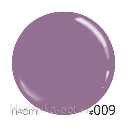 Декоративный лак Naomi 009 (темная марсала), 12 мл, фото 2
