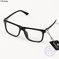Имиджевые очки Gucci с прозрачной линзой - 1193/1