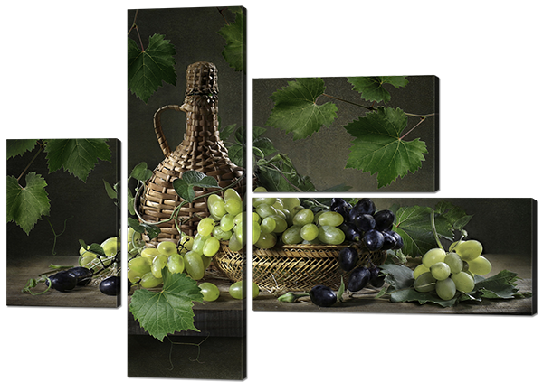 Модульная картина Натюрморт из винограда