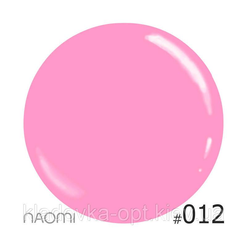 Декоративный лак Naomi  012 (розовый), 12 мл