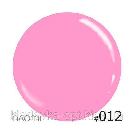 Декоративный лак Naomi  012 (розовый), 12 мл, фото 2