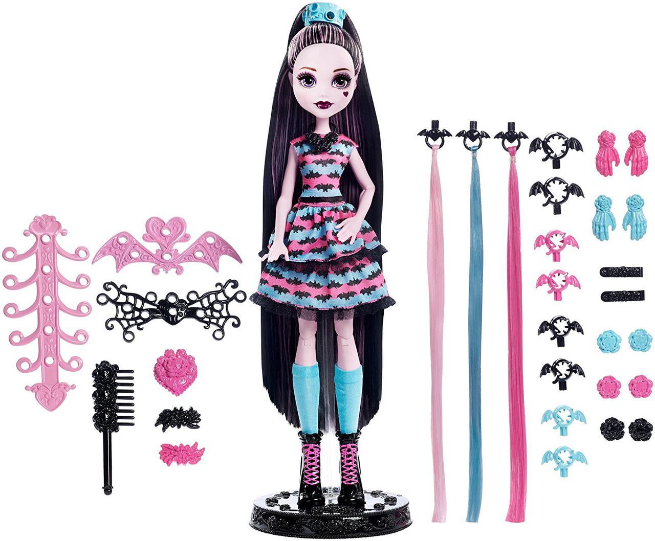 Кукла Монстер Хай Дракулаура Стильные прически Monster High Girls Party Hair Draculaura Doll