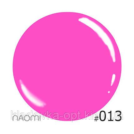 Декоративный лак Naomi 013 (ярко-сиреневая фуксия), 12 мл, фото 2