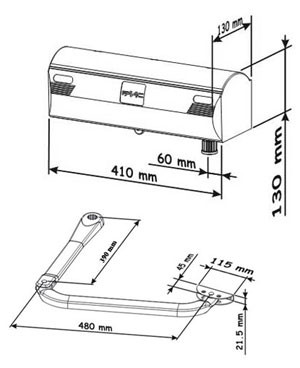 Габаритные размеры FAAC 390 KIT