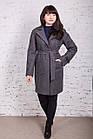Стильное женское кашемировое пальто на запах от производителя модель весна 2018 - (рр-74), фото 7