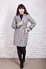 Стильное женское кашемировое пальто на запах от производителя модель весна 2018 - (рр-74), фото 8