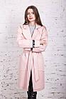Стильное женское кашемировое пальто на запах от производителя модель весна 2018 - (рр-74), фото 9