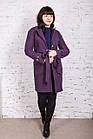 Стильное женское кашемировое пальто на запах от производителя модель весна 2018 - (рр-74), фото 10