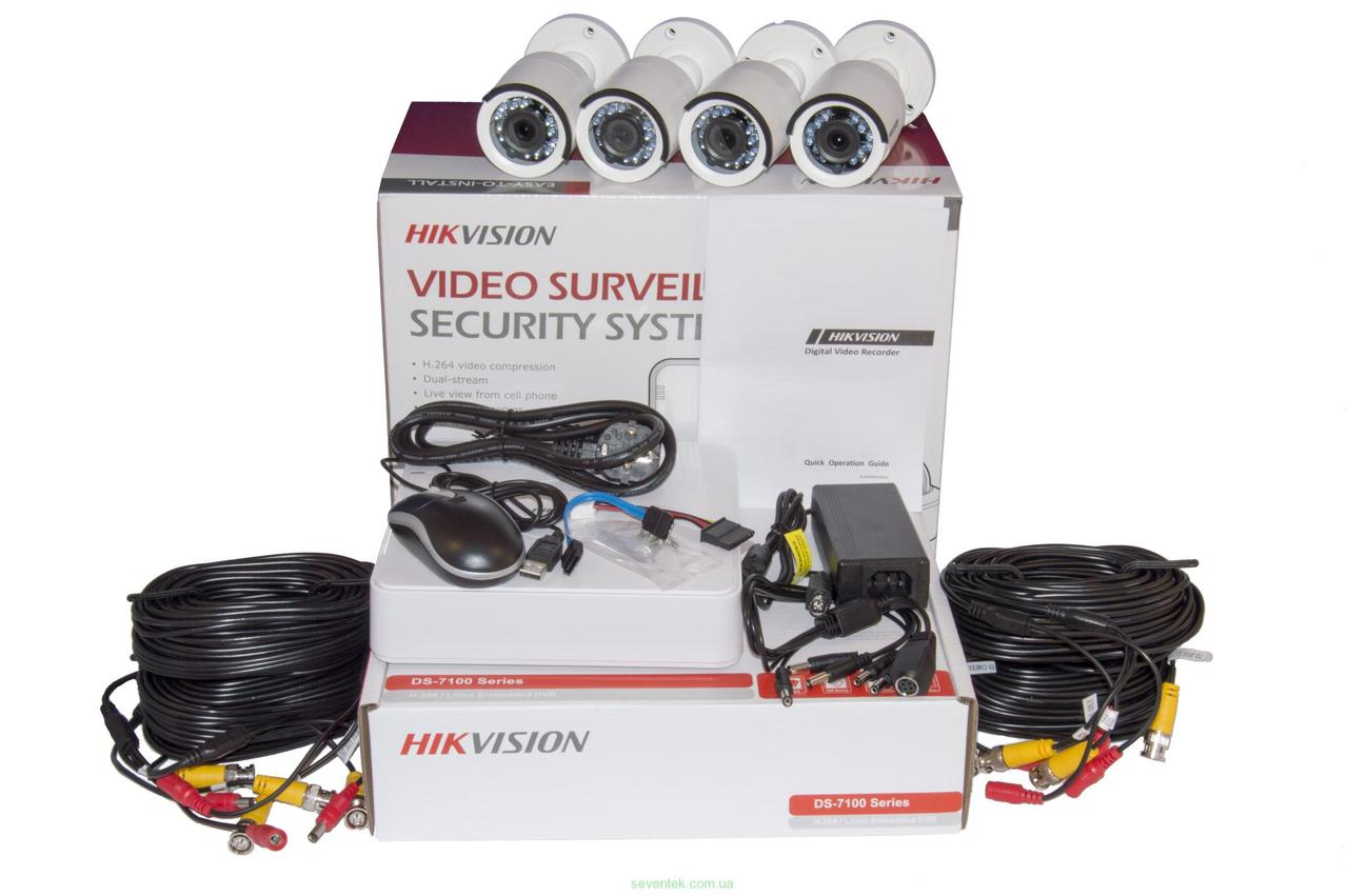 Комплект видеонаблюдения  Hikvision DS-J142I/7104HGHI-E1