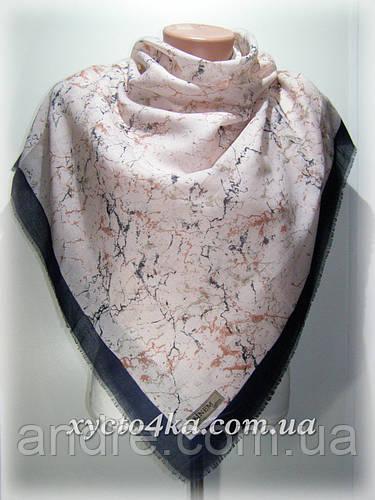 Уплотненный натуральный платок Паутинка, розовый