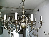 Люстры потолочные б/у (Италия) 1 шт., люстры из Европы, мебель из Европы б/у