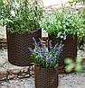 Горшок для цветов 18 л. Cylinder Planter Medium, коричневый, фото 2
