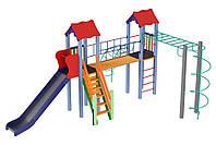 Детские площадки Вагончик высота горки 1,5 м, фото 1