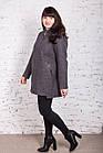 Женское пальто с капюшоном батального размера от AMAZONKA модель весна 2018 - (рр-76), фото 6
