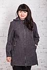 Женское пальто с капюшоном батального размера от AMAZONKA модель весна 2018 - (рр-76), фото 7