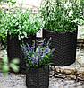 Горшок для цветов 7 л. Cylinder Planter Small, серый, фото 3