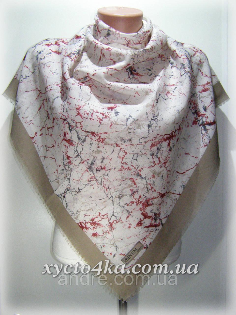 Уплотненный натуральный платок Паутинка, бежевый