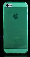Чехол силиконовый HQ 0.3 мм с заглушками для iPhone 5/5S Green