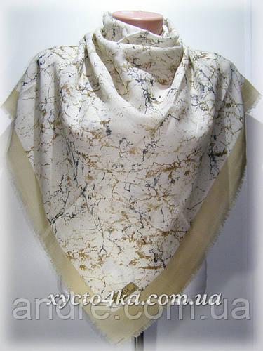 Уплотненный натуральный платок Паутинка, капучино