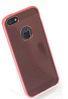 Чехол силиконовый HQ with Logo 0.3 мм с заглушками для iPhone 5/5S Red