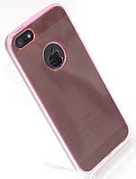 Чехол силиконовый HQ with Logo 0.3 мм с заглушками для iPhone 5/5S Pink