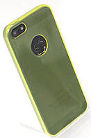Чехол силиконовый HQ with Logo 0.3 мм с заглушками для iPhone 5/5S Yellow