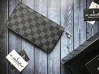 30ea9d6617b9 Кошелек клатч портмоне бумажник мужской женский Louis Vuitton серый премиум  реплика