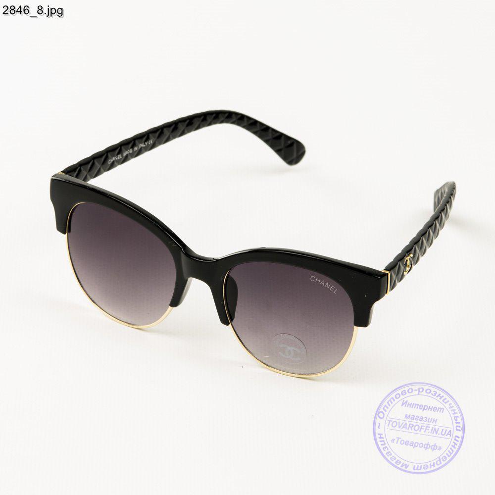 ea87ced36e72 Брендовые очки солнцезащитные женские Chanel - Черные - 2846/1 ...