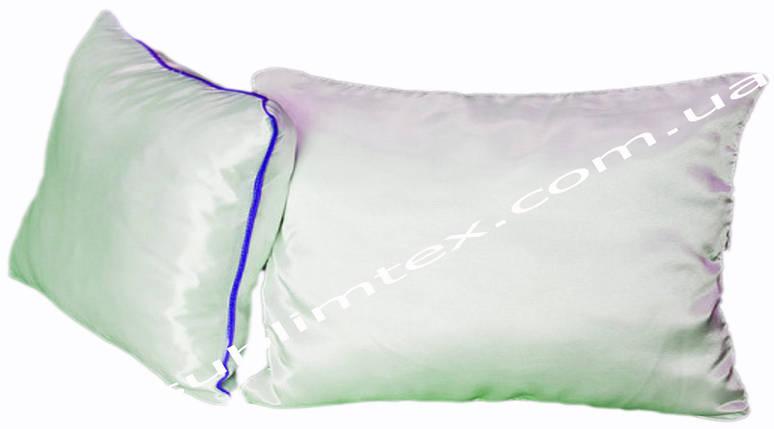 Подушка атласная,натуральный наполнитель, метод печати сублимация, размер 35х45см., Кант синий, фото 2