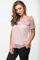 Блуза женская 2118, легкая блузка, шифоновая блуза, жіноча блуза