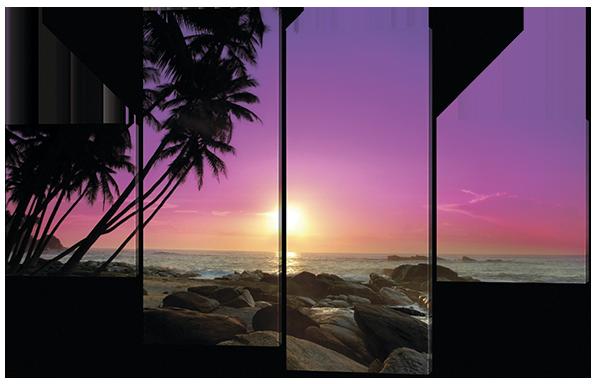 Модульная картина Закат. Мальдивы 166*106