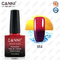 Гель-лак термо Canni 351 сливовый - красный 7,3ml
