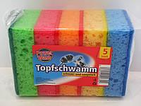 Губки для посуды Power Wash Topfschwamm 5шт.
