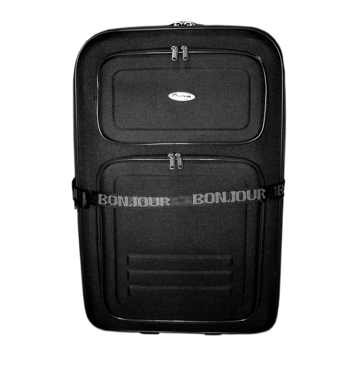 Дорожный чемодан 2 колеса (средний) черный, артикул: 12126-9380