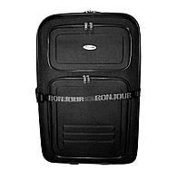 Дорожный чемодан 2 колеса (средний) черный, артикул: 12126-9380, фото 1
