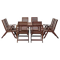 IKEA APPLARO Стол + 8 мест, внешнее коричневое пятно  (390.539.69)