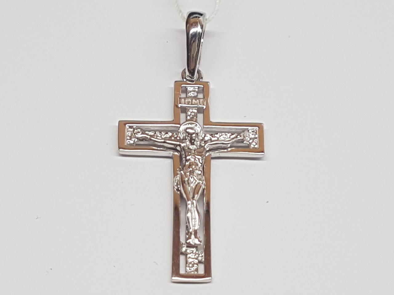 Золотий хрестик. Розп'яття Христа. Артикул 3643312Б