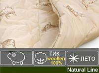 Одеяло из овечьей шерсти мериноса Лето. Чехол Тик woollen. №019