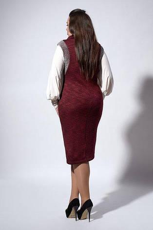 Красивый деловой сарафан из теплого трикотажа размер 52-54, фото 2