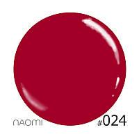 Декоративный лак Naomi 024 (бледный перламутрово-красный), 12 мл