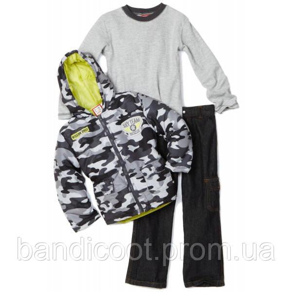 Куртка демисезонная, кофта, джинсы Набор Камуфляж  Baby Togs