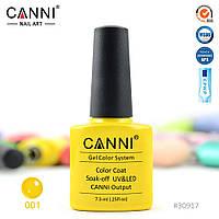 Гель лак Canni 001 желтый