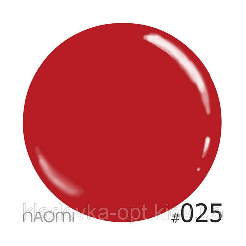 Декоративный лак Naomi 025 (яркий коралловый), 12 мл